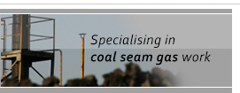 Specialising in coal seam gas work